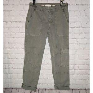 Anthropologie Hei Hei Green Cargo Pants Size 25